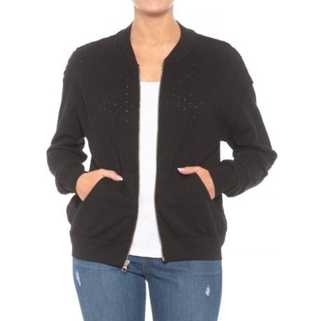 Zipper Bomber Jacket (For Women)