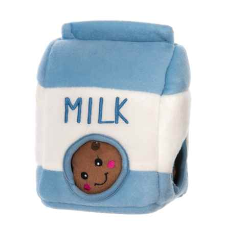 ZippyPaws Burrow Milk and Cookies Dog Toy - Squeaker in Milk And Cookies - Closeouts