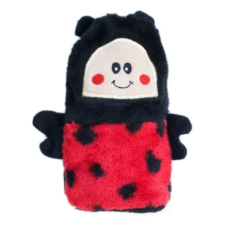 ZippyPaws Colossal Buddie Ladybug Dog Toy - Squeaker in Red/Black