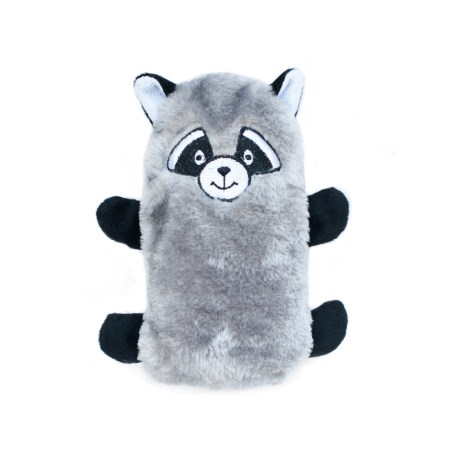 ZippyPaws Colossal Buddie Raccoon Dog Toy - Squeaker in Grey/Black