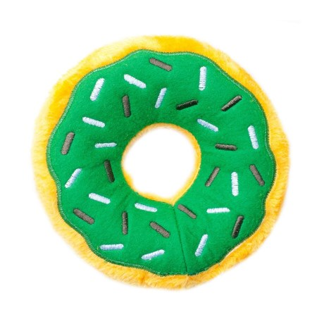 ZippyPaws Donutz Dog Toy - Squeaker in Mint Chip