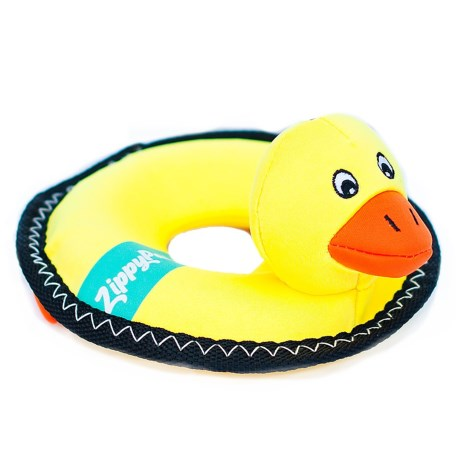 ZippyPaws Floaterz Z-Stitch Duck Squeaker Dog Toy