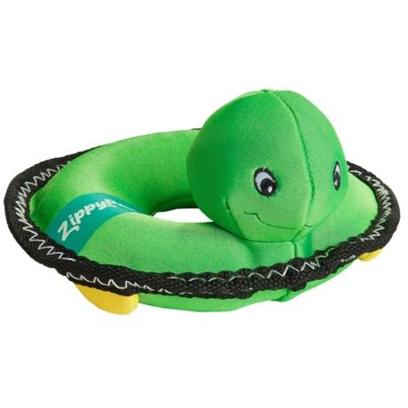 ZippyPaws Floaterz Z-Stitch Turtle Squeaker Dog Toy