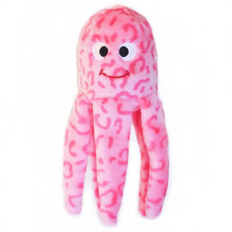 ZippyPaws Floppy Jelly Squeaker Dog Toy in Pink