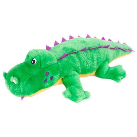 ZippyPaws Grunterz Alvin the Alligator Dog Toy in Green