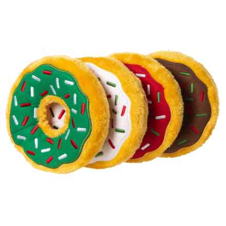 ZippyPaws Holiday Donutz Gift Box Dog Toy - 4-Pack in Holiday - Closeouts