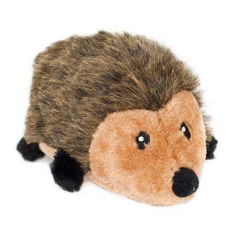 ZippyPaws Large Hedgehog Squeaker Dog Toy in Brown