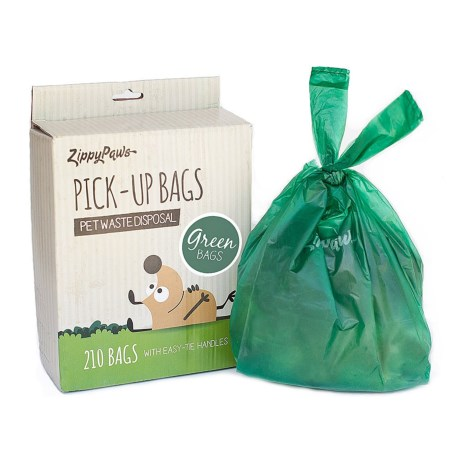 ZippyPaws Large Pet Waste Disposal Bags - 210-Count in Green