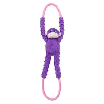 ZippyPaws Monkey Ropetugz Squeaker Dog Toy in Purple - Closeouts