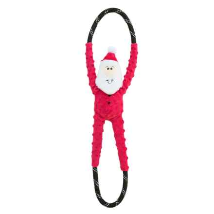 ZippyPaws RopeTugz Santa Dog Toy in Holiday - Closeouts
