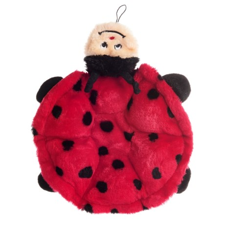 ZippyPaws Squeakie Crawler Ladybug Dog Toy in Red/Black