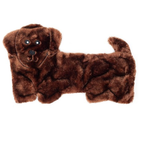 ZippyPaws Squeakie Pups Dachshund Dog Toy in Brown