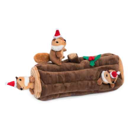 ZippyPaws Yule Log Burrow Dog Toy - Extra Large in Holiday - Closeouts
