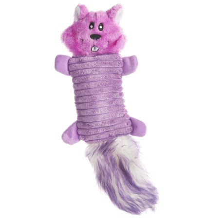 ZippyPaws Zingy Squirrel Dog Toy - Squeaker in Purple