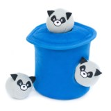 ZippyPaws Zippy Burrow Raccoons in a Trash Can Dog Toy