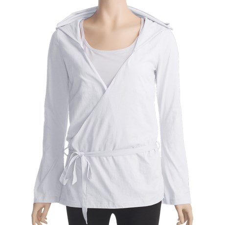 Zobha Anna Wrap Shirt - Long Sleeve (For Women) in White