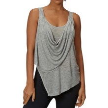 Zobha Annika Draped Sheer Tank Top (For Women) in Heather Gray - Closeouts