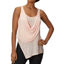 Zobha Annika Draped Sheer Tank Top (For Women) in Heather Soft Pink - Closeouts