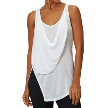 Zobha Annika Draped Sheer Tank Top (For Women) in White - Closeouts