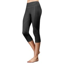 Zobha Cru Ribbed Panel Capri Leggings (For Women) in Phantom Heather - Closeouts