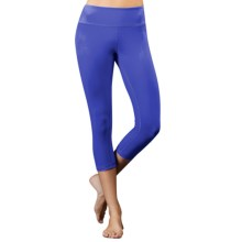 Zobha Louie Capri Leggings (For Women) in Muscari Blue Solid - Closeouts