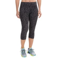 Zobha Straight-Leg Capri Leggings - Low Rise (For Women) in Herringbone Scatter Black - Closeouts
