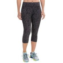 Zobha Straight-Leg Capri Leggings - Low Rise (For Women) in Herringbone Scatter Black - Closeouts