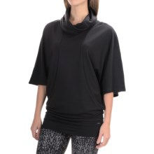 Zobha Tara Cowl Neck Tunic Shirt - Short Sleeve (For Women) in Black - Closeouts