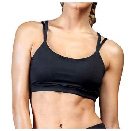 Zobha Thompson Twist Back Sports Bra - High Impact (For Women) in Black - Closeouts