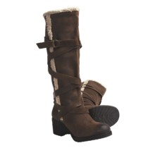 Zodiac USA Audreya Tall Boots - Distressed Leather (For Women) in Alba Bark - Closeouts