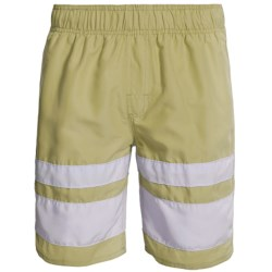 Zonal Swim Trunks - Built-In Shorts (For Men) in Hemp