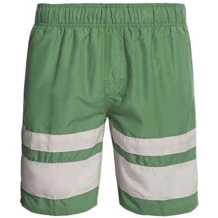 Zonal Swim Trunks - Built-In Shorts (For Men) in Malachite Green - Closeouts