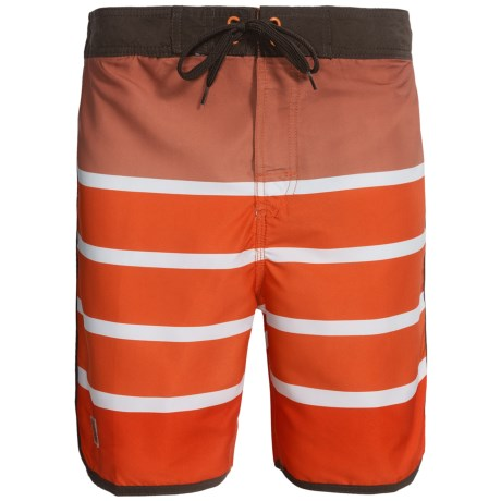 Zonal Swim Trunks - Built-In Shorts (For Men) in Mandarin Orange