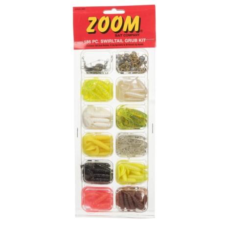 ZOOM Company Swirltail Grub Kit - 180-Piece in Multi