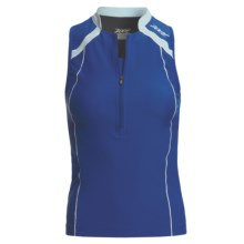 Zoot Endurance Tri Tank Top - Shelf Bra, Zip Neck (For Women) in Indigo/Ice - Closeouts