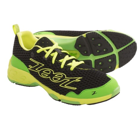 Zoot Sports Banyan Running Shoes (For Men) in Black/Green Flash/Safety Yellow