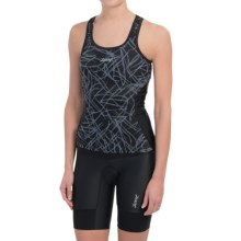 Zoot Sports BYOB Tri Cycling Jersey - UPF 50+, Sleeveless (For Women) in Black Static - Closeouts