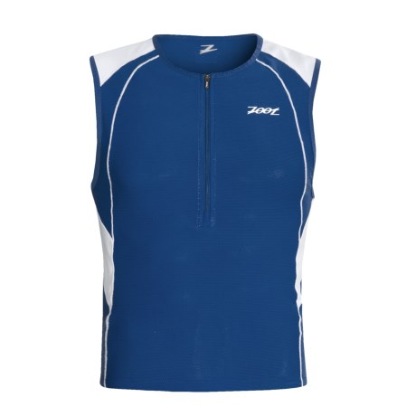 Zoot Sports Endurance Tri Jersey - Sleeveless (For Men) in Classic Blue/White