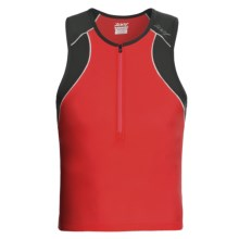 Zoot Sports Endurance Tri Tank Top - Zip Neck (For Men) in True Red/Black - Closeouts