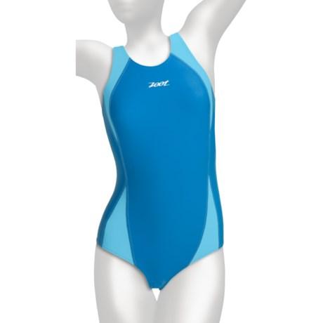 Zoot Sports Fastlane One-Piece Swimsuit - UPF 50+ (For Women) in Oceanus/Aqua