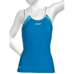 Zoot Sports High-Performance Hydro Tri Crossback Top - UPF 50+, Built-In Bra (For Women) in Oceanus/Oceanus/Print
