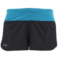 Zoot Sports High-Performance Run Swift Shorts - UPF 50+ (For Women) in Black/Atomic Blue - Closeouts