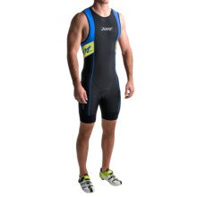 Zoot Sports High-Performance Tri Back Zip Race Suit (For Men) in Pewter/Zoot Blue - Closeouts