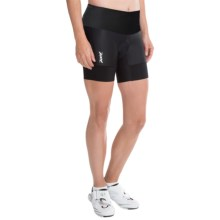 "Zoot Sports High-Performance Tri Bike Shorts - 6"" (For Women) in Black - Closeouts"
