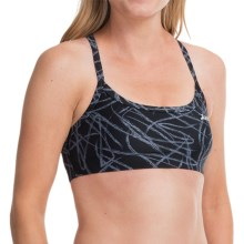Zoot Sports High-Performance Tri Cami Bra - Medium Impact (For Women) in Black Static - Closeouts