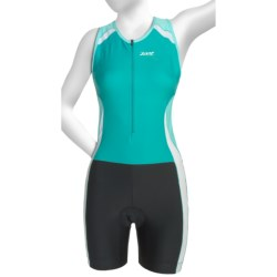 Zoot Sports High-Performance Tri Race Suit - Zip Neck, UPF 50+, Built-In Bra (For Women) in Aruba/Beach/Glass