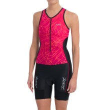 Zoot Sports High-Performance Tri Racesuit (For Women) in Pink Grapefruit Static - Closeouts