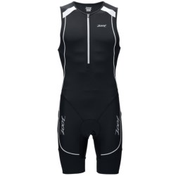 Zoot Sports High-Performance Tri Racesuit - UPF 30+ (For Men) in Black/Black/White