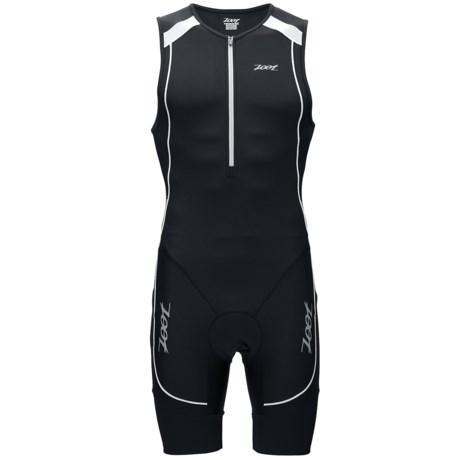 Zoot Sports High-Performance Tri Racesuit - UPF 30+ (For Men) in Black/Black/White