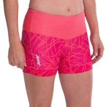 "Zoot Sports High-Performance Tri Shorts - UPF 50+, 4"" (For Women) in Pink Grapefruit Static - Closeouts"